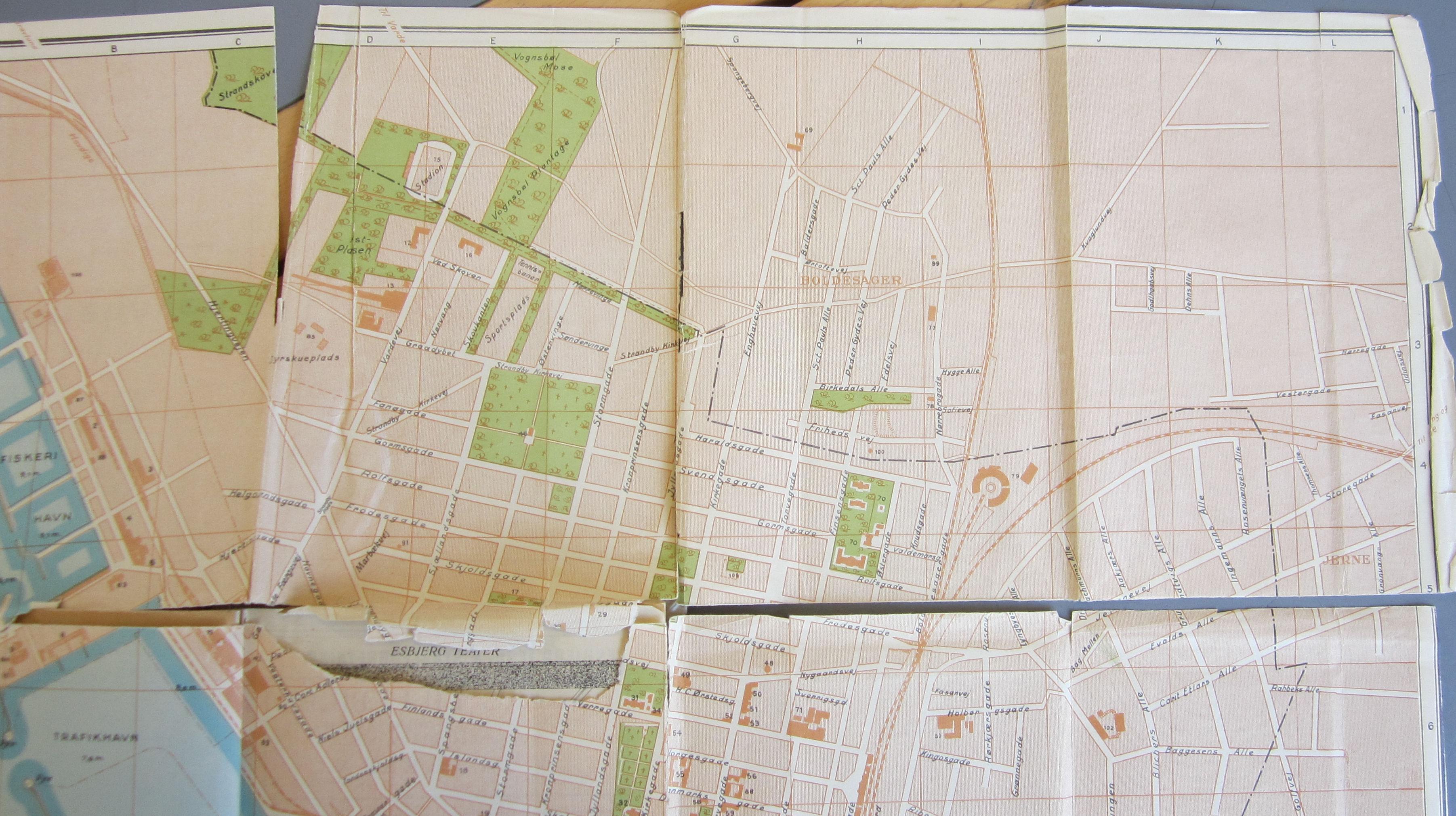 kort over esbjerg havn